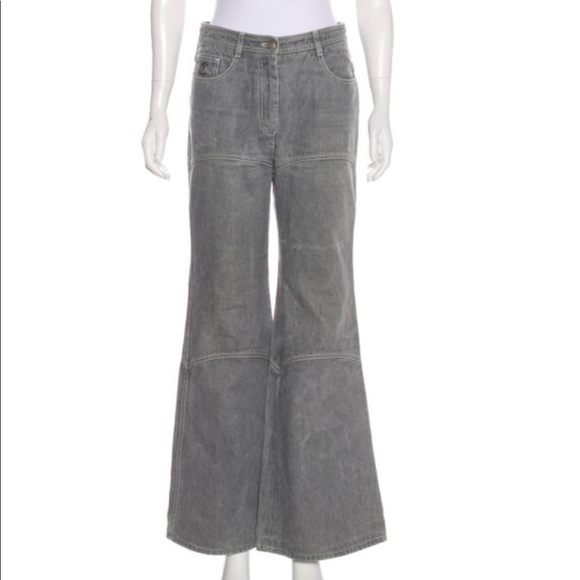 CHANEL Denim - Chanel grey jeans, wide leg